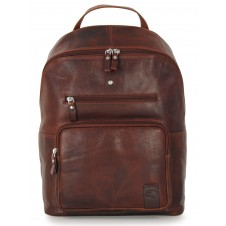 "Laptop Backpack Carnaby St. 15"" in leather Chestnut/Brown"