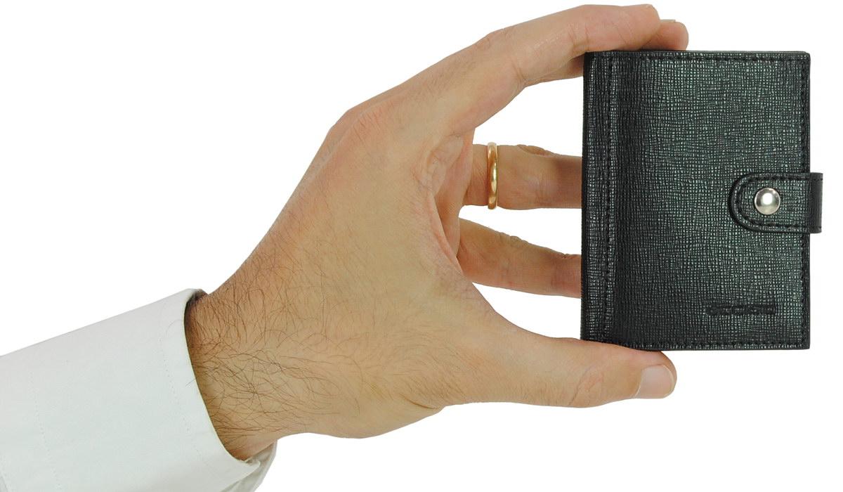 portafoglio uomo mini con carte di credito