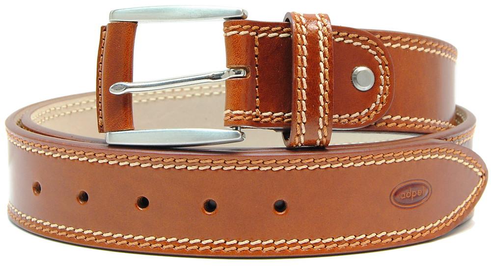 cintura in cuoio da jeans, cognac 02 - adpel
