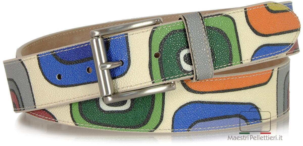Leather belt fashion colorful
