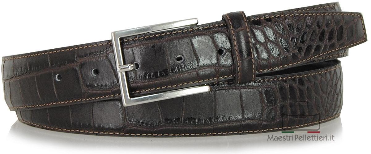 cintura coccodrillo stampata