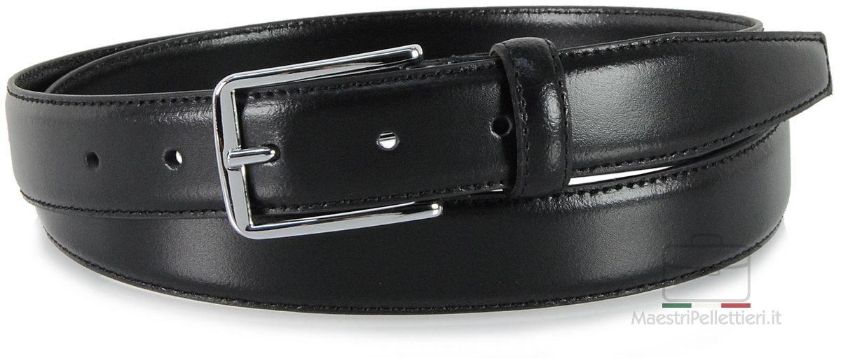 cintura uomo elegante nero