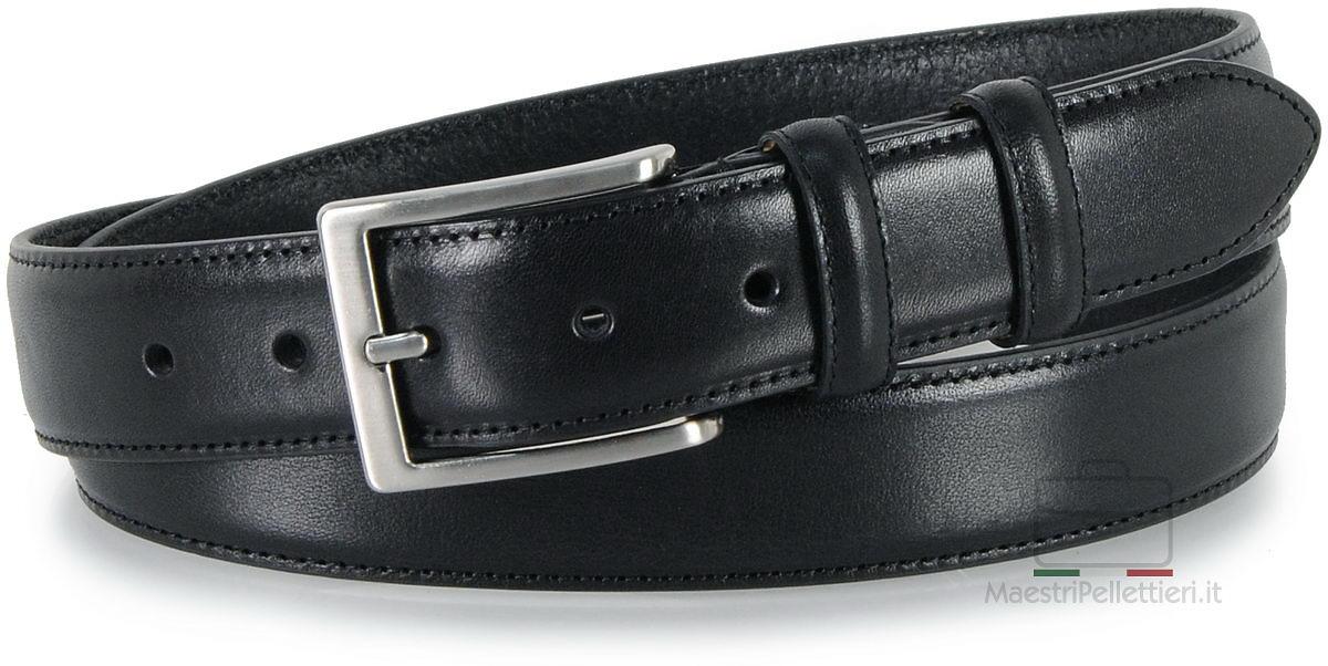 cintura classica da uomo nero
