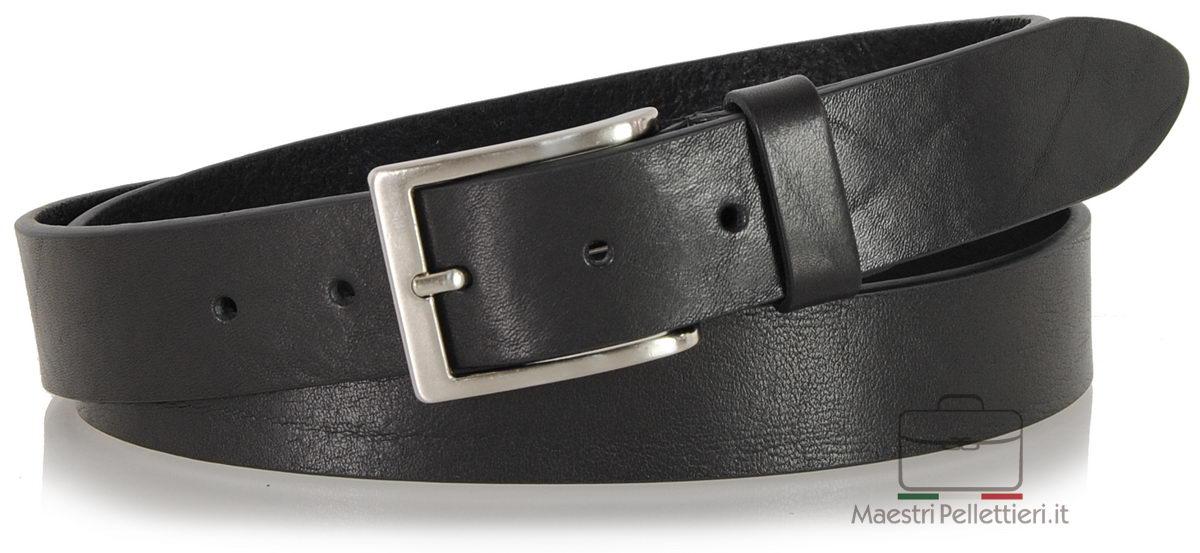 cintura cuoio da uomo colore nero
