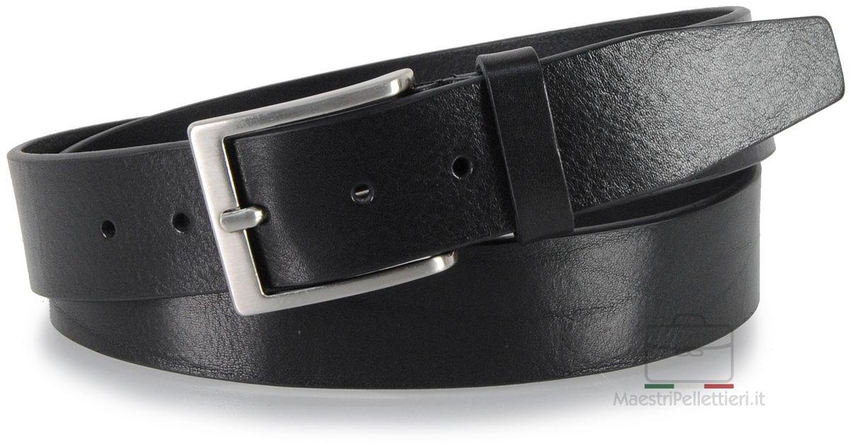 cintura in cuoio nero da jeans - Adpel