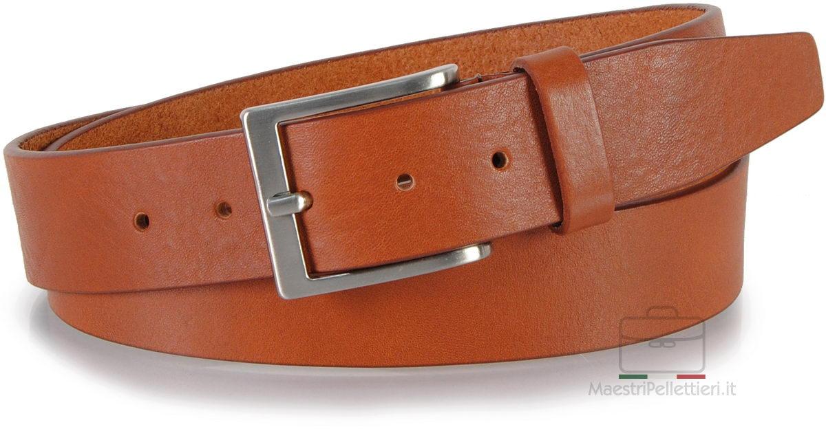 cintura in cuoio cognac da jeans - Adpel