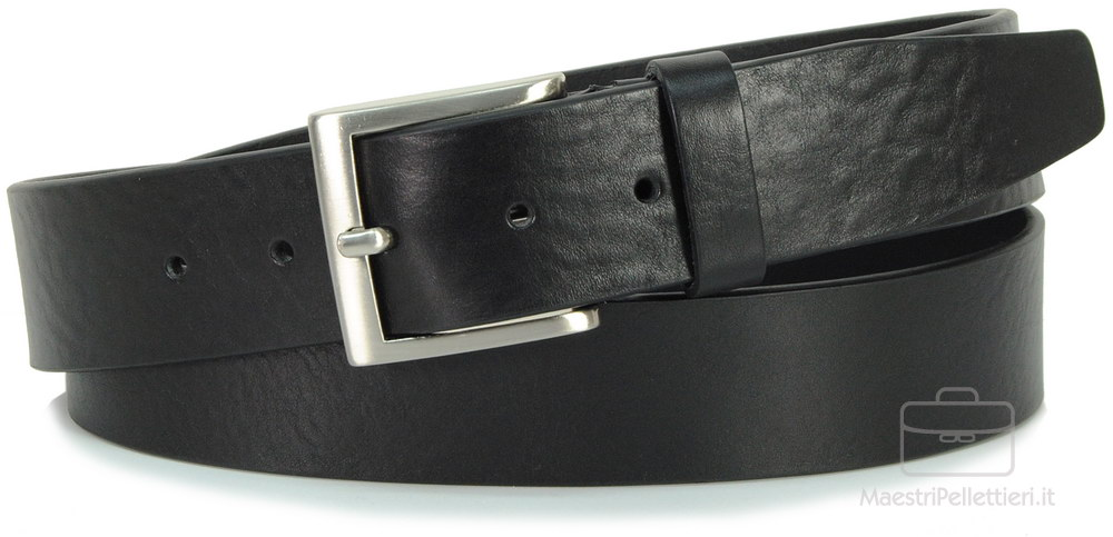 Cintura cuoio nero