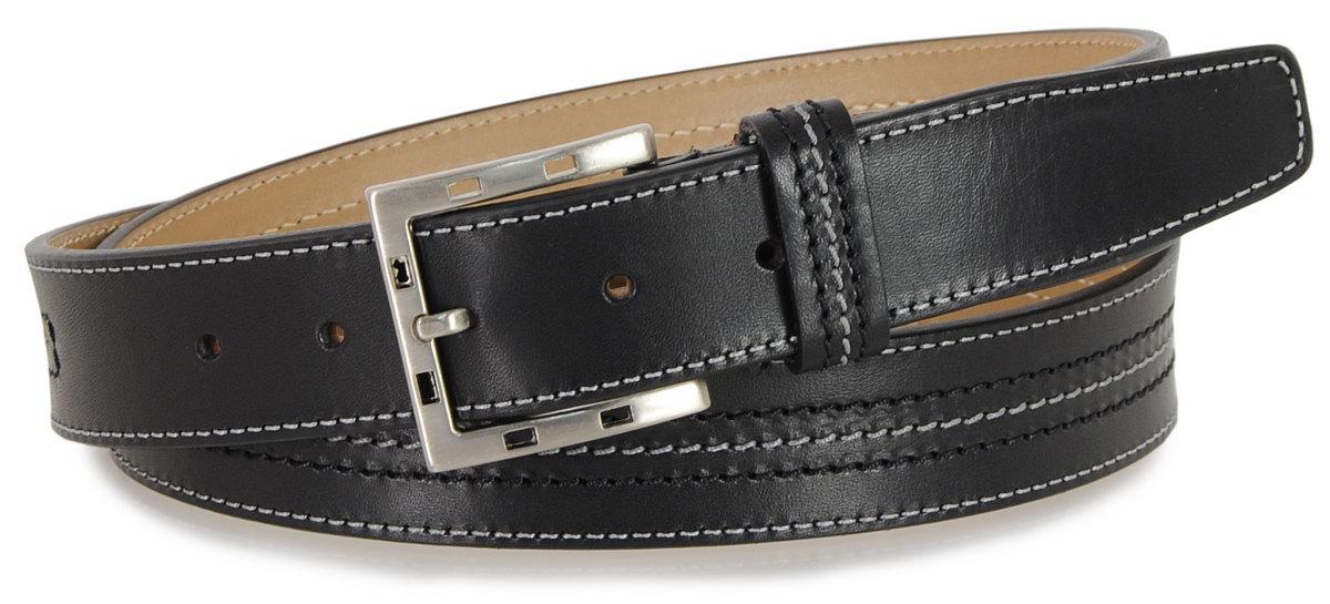 Cintura classica uomo in Vacchetta Nero - Adpel