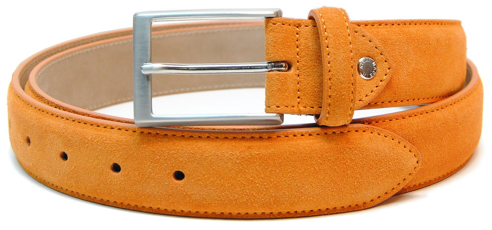 cintura scamosciata arancio, made in Italy | Adpel