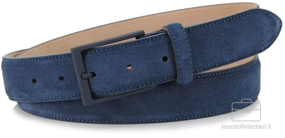 cintura scamosciata blu | Adpel