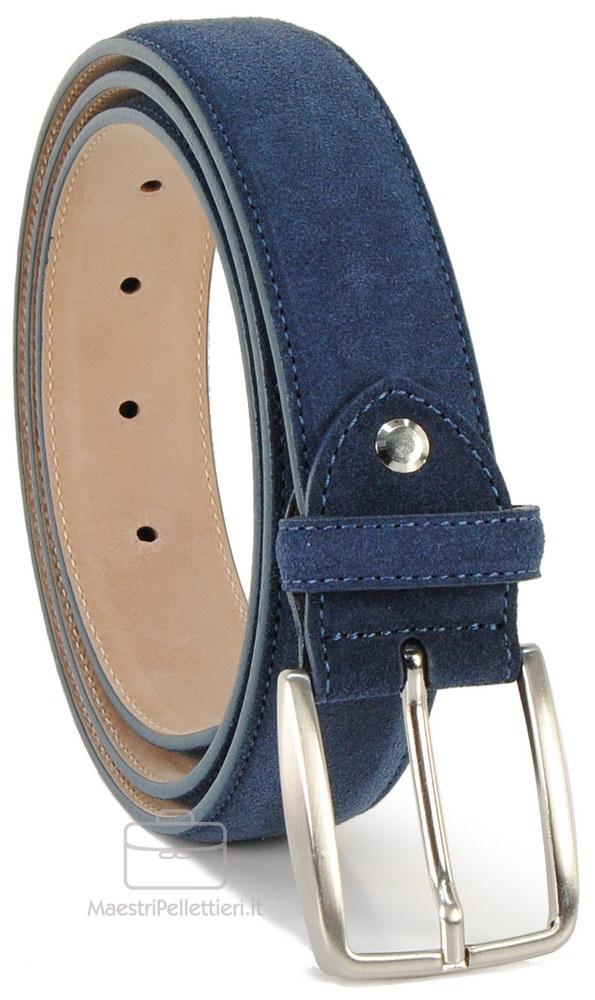 Cintura Scamosciata pelle Blu