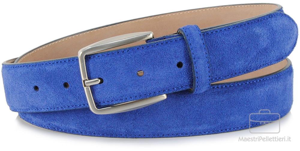 cintura camoscio indaco blu | Adpel