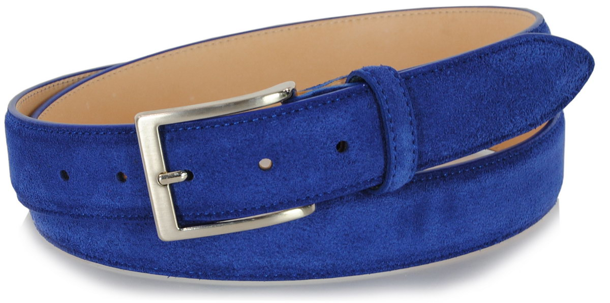 Suede indigo blue belt | Adpel