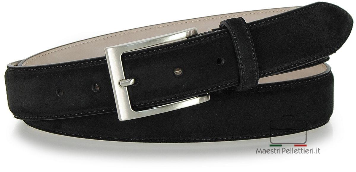 cintura scamosciata nero