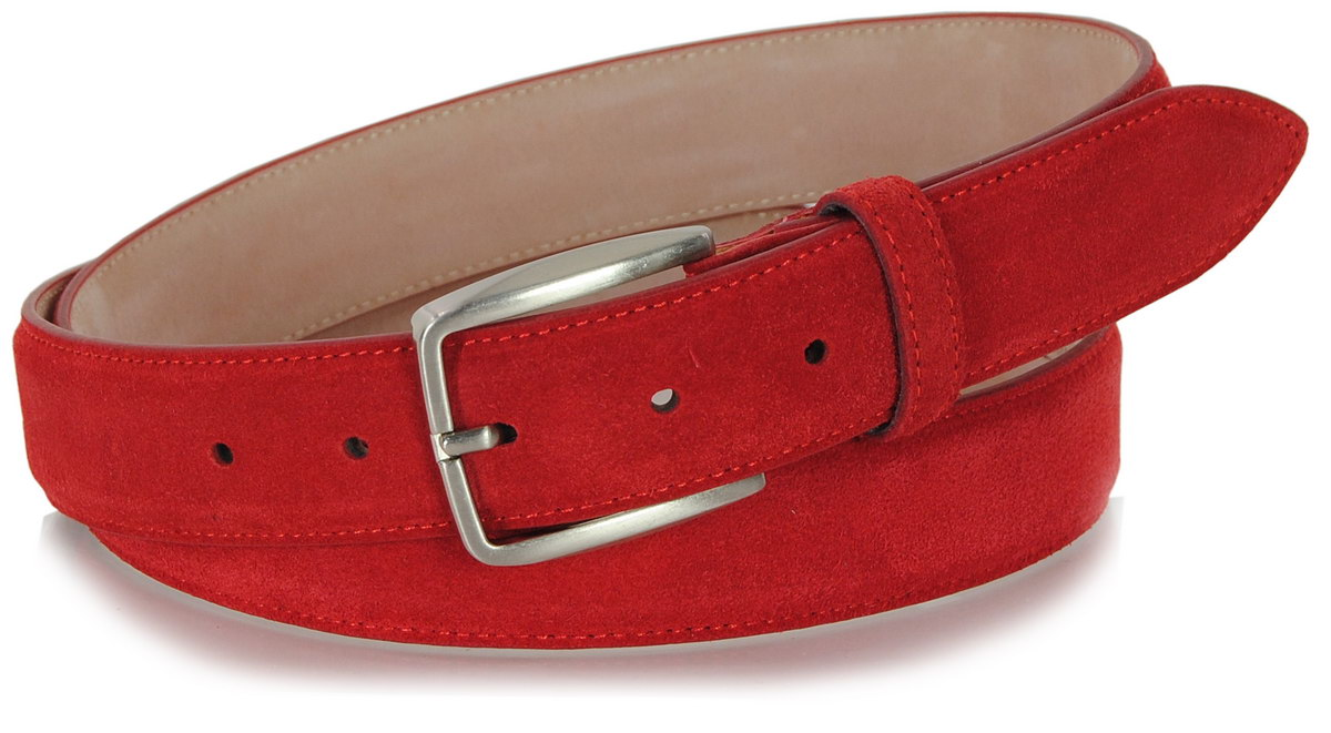 cintura scamosciata rosso