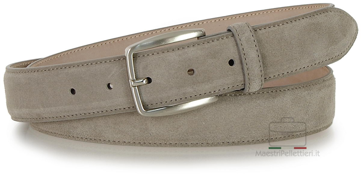 cintura camoscio Taupe/Beige, made in Italy | Adpel
