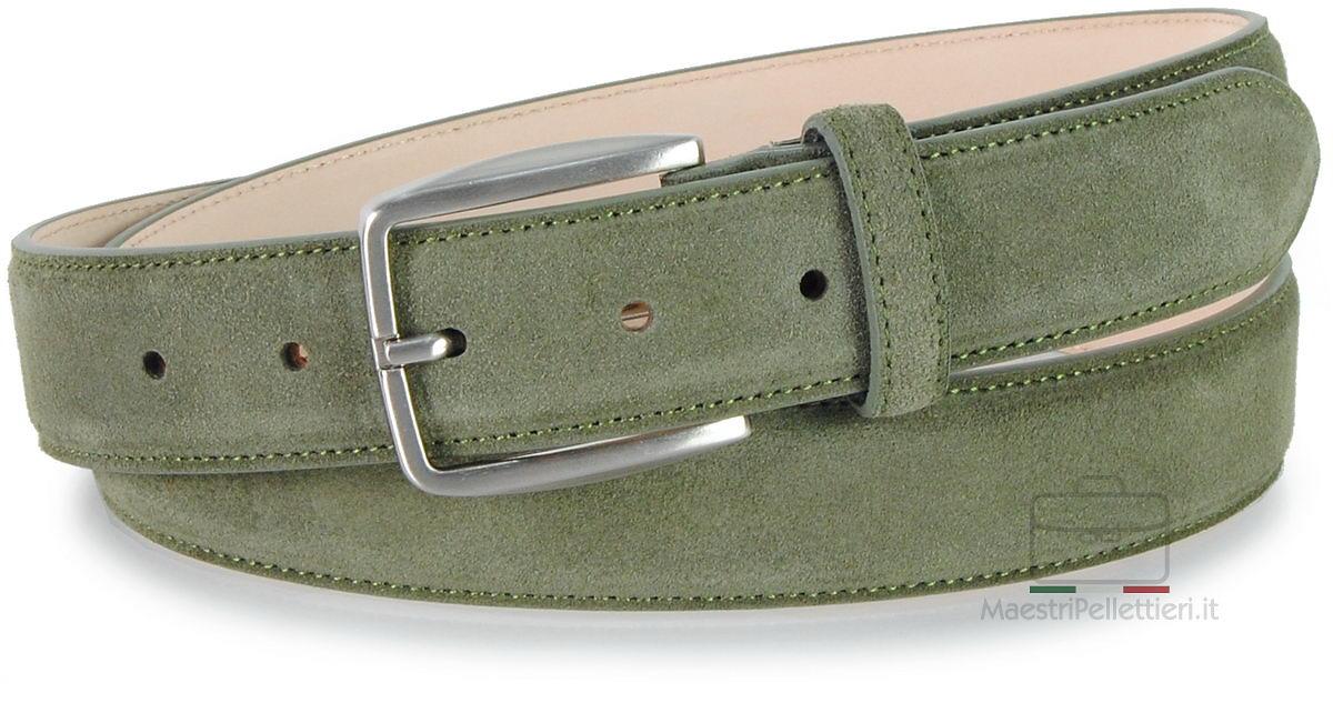 cintura scamosciata verde