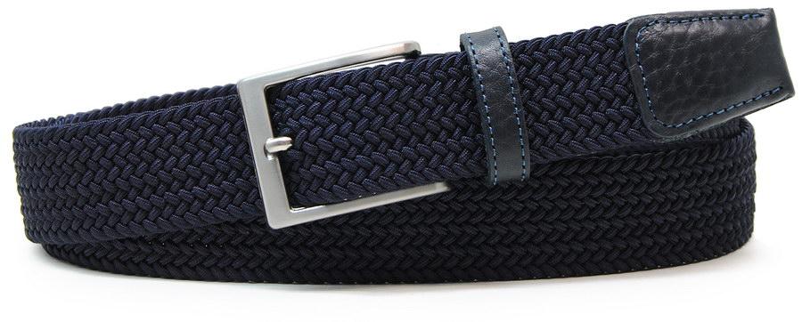 cintura intrecciata elastica - acciaio