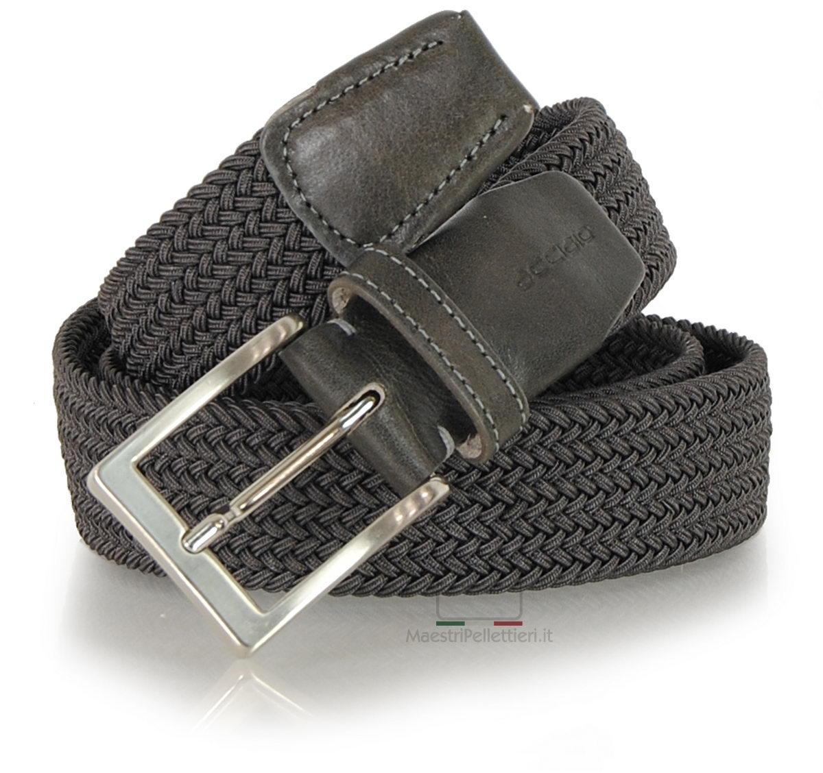 cintura intrecciata elastica grigia