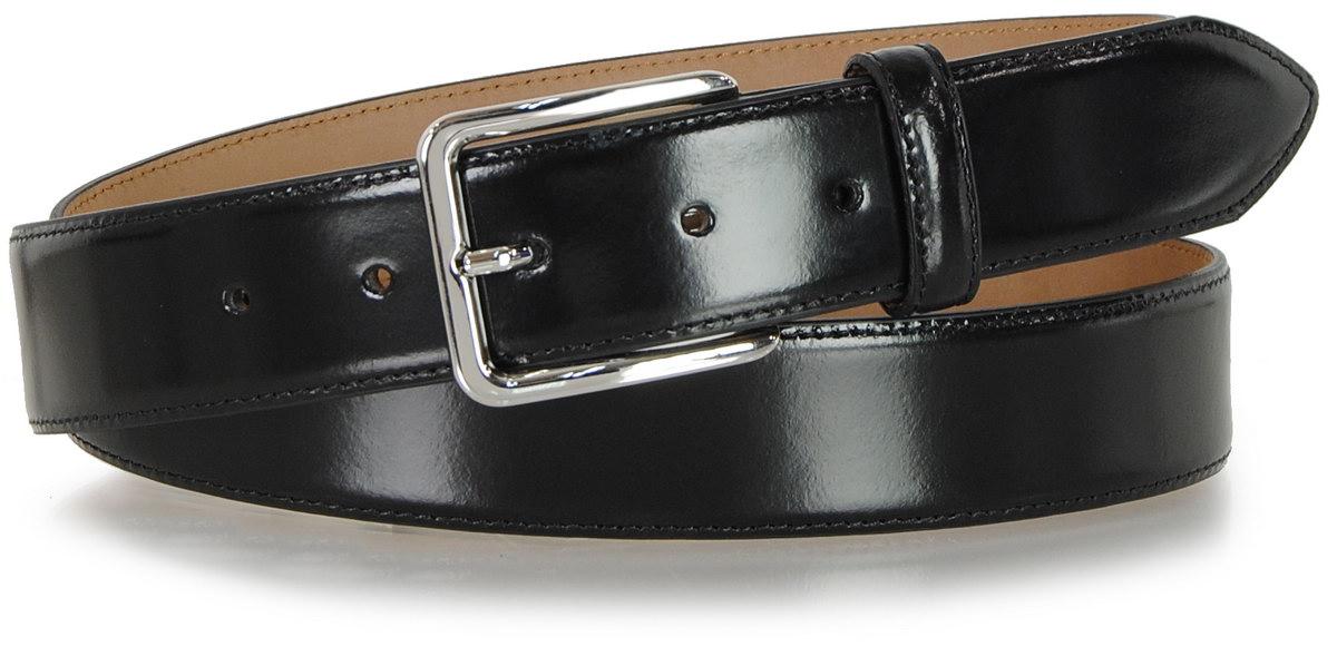 cintura uomo nera lucida