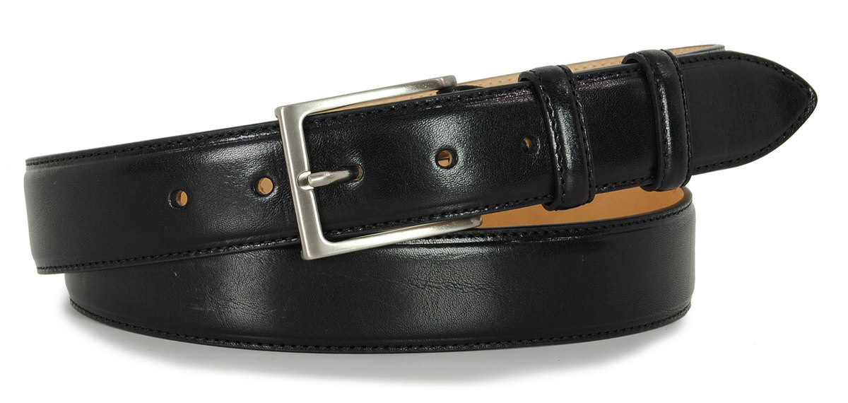 man's belt black