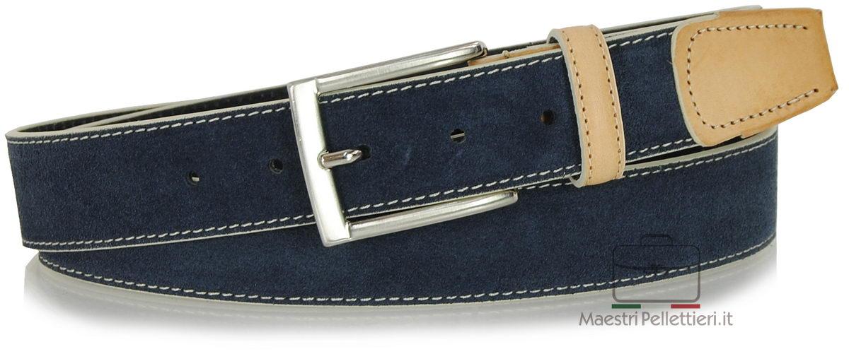cintura camoscio blu | Adpel