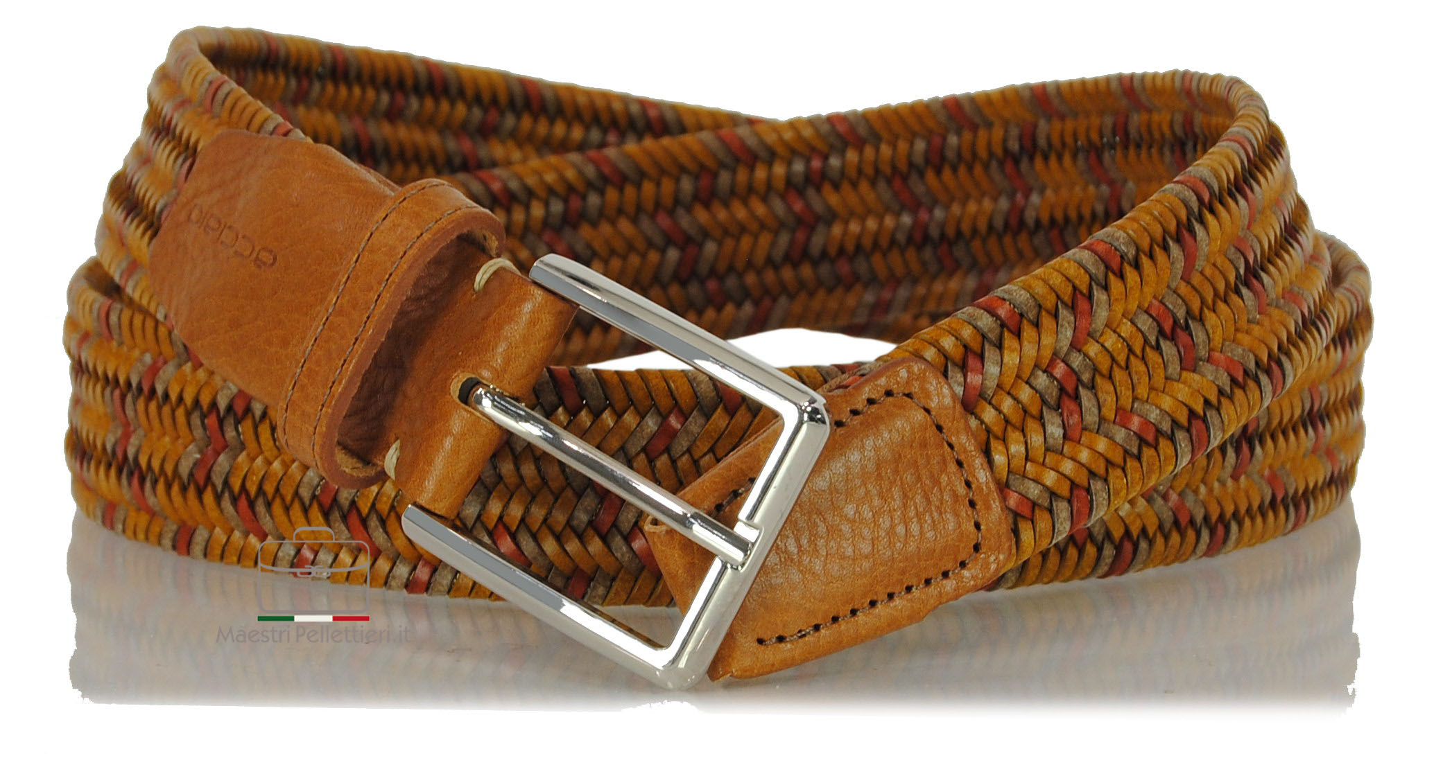 cintura intrecciata cuoio