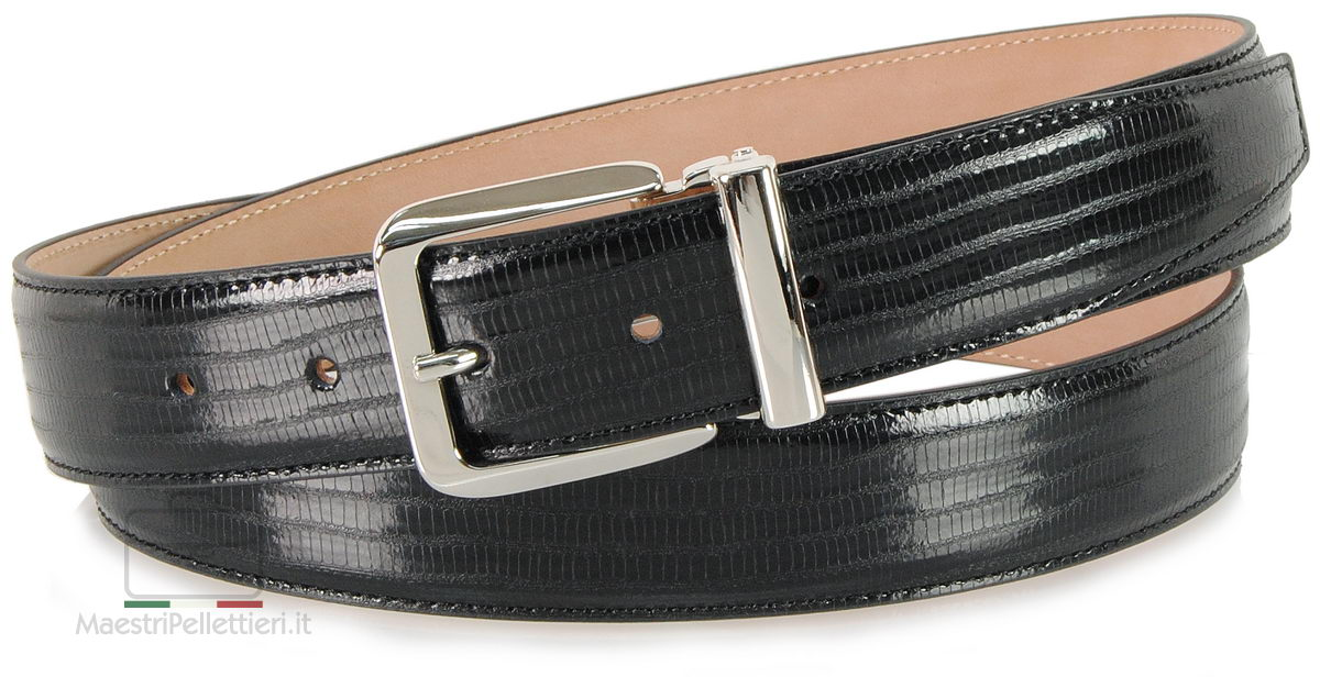 Cintura uomo elegante lucertola