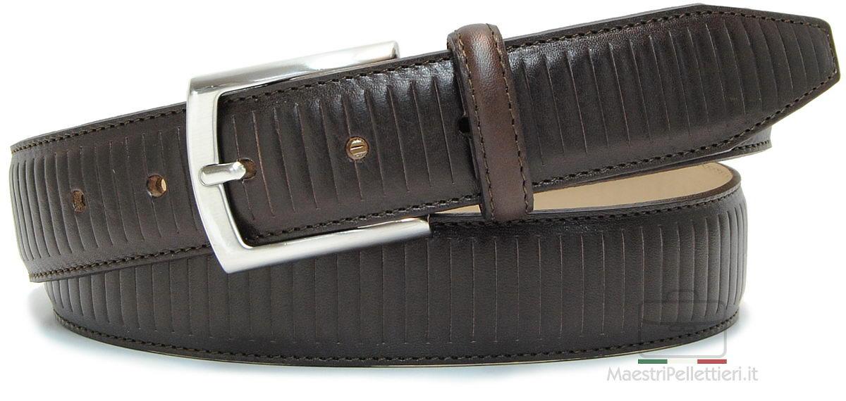 cintura cuoio marrone moda