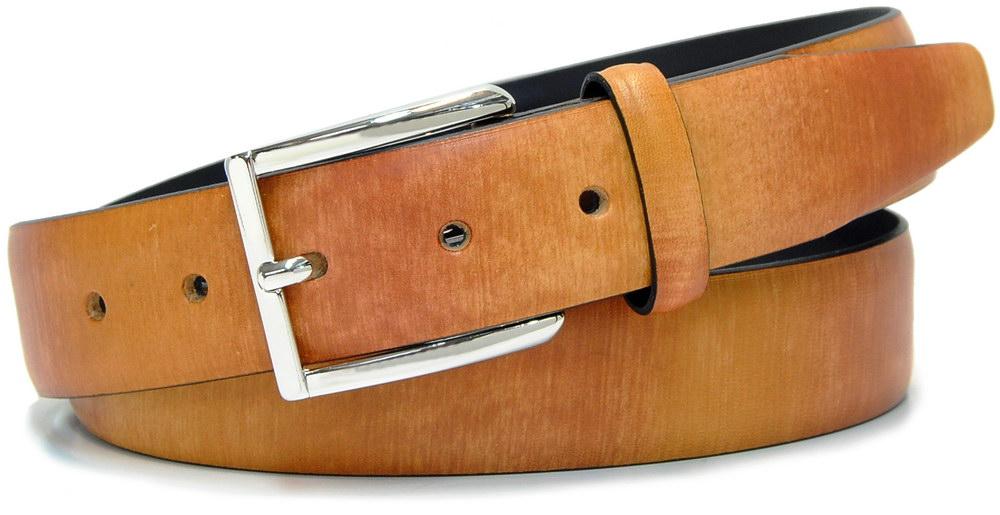 cintura moda dipinta colorata cuoio e marrone - Acciaio