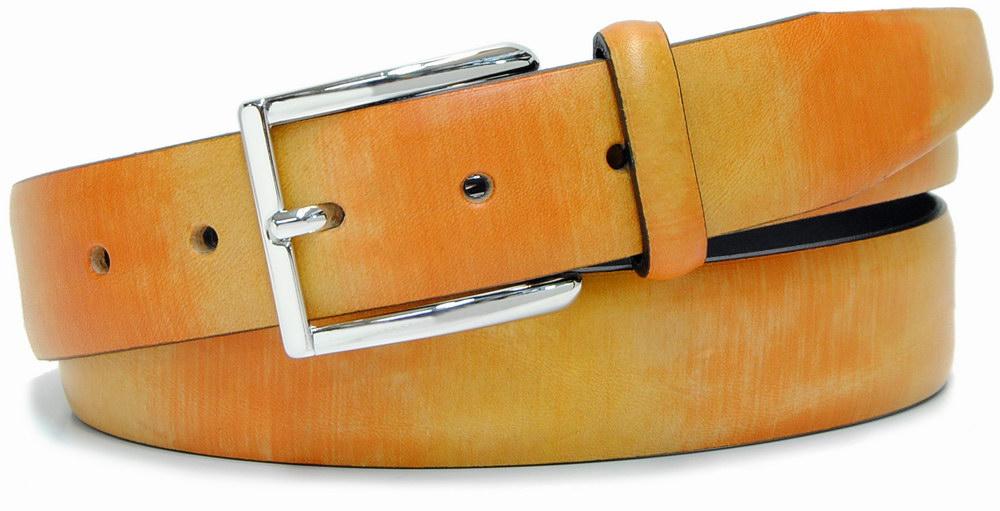 cintura moda dipinta colorata giallo e arancio - Acciaio