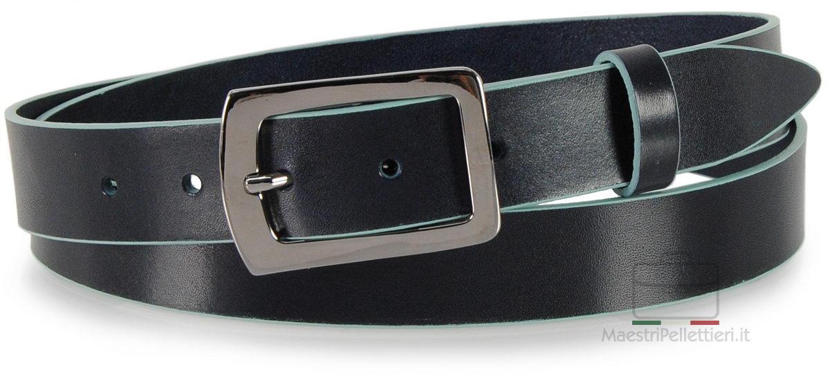cintura con bordi blu