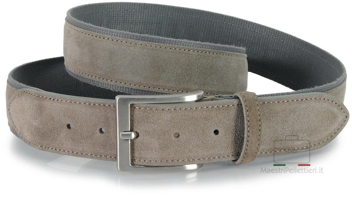 cintura camoscio e nastro grigio
