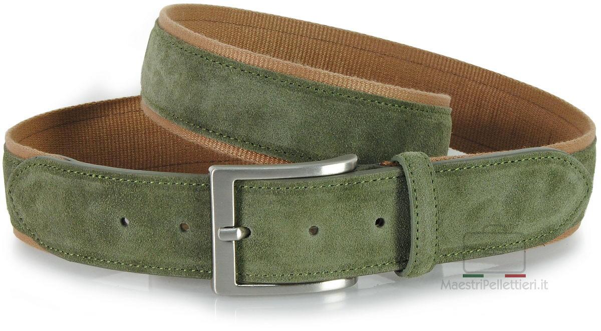 cintura camoscio verde