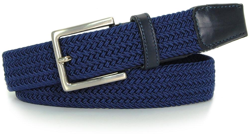 cintura elastica intrecciata blu