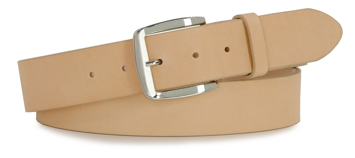 Belt in black leather, made in italy - Acciaio