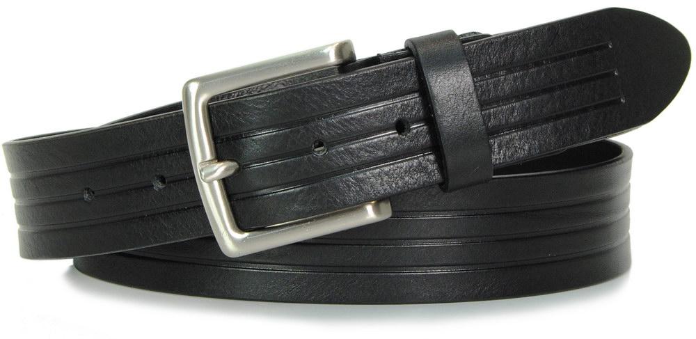 jeans guertel schwarz leder, made in italy - Acciaio