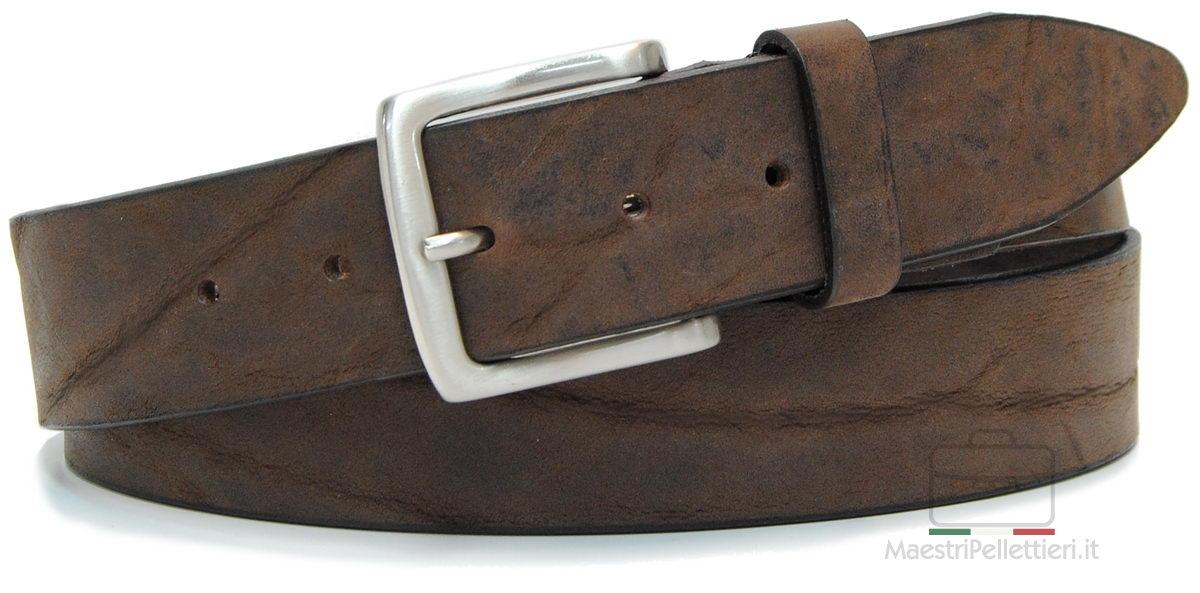 cintura in nabuk - Acciaio