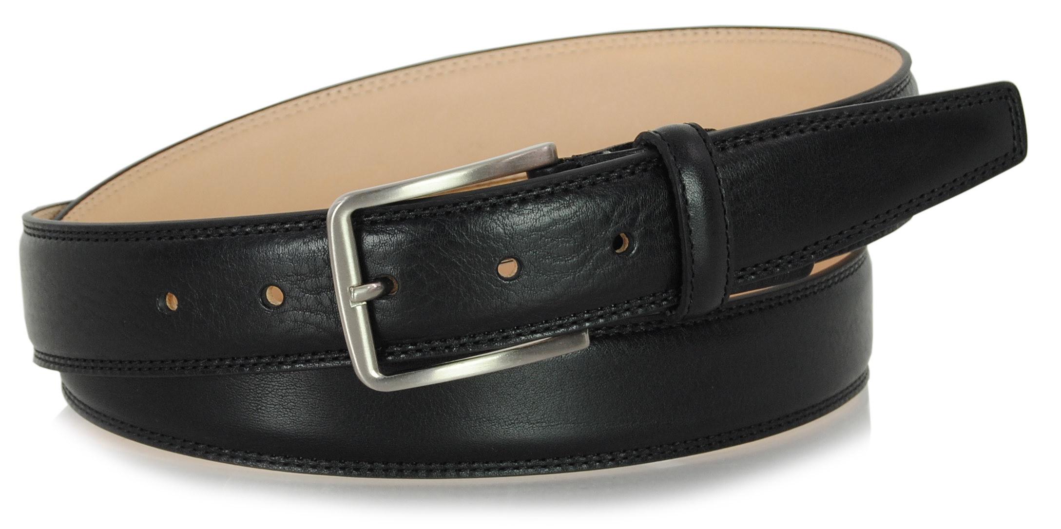 classic men leather belt black