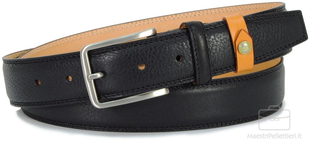 cintura nera da uomo
