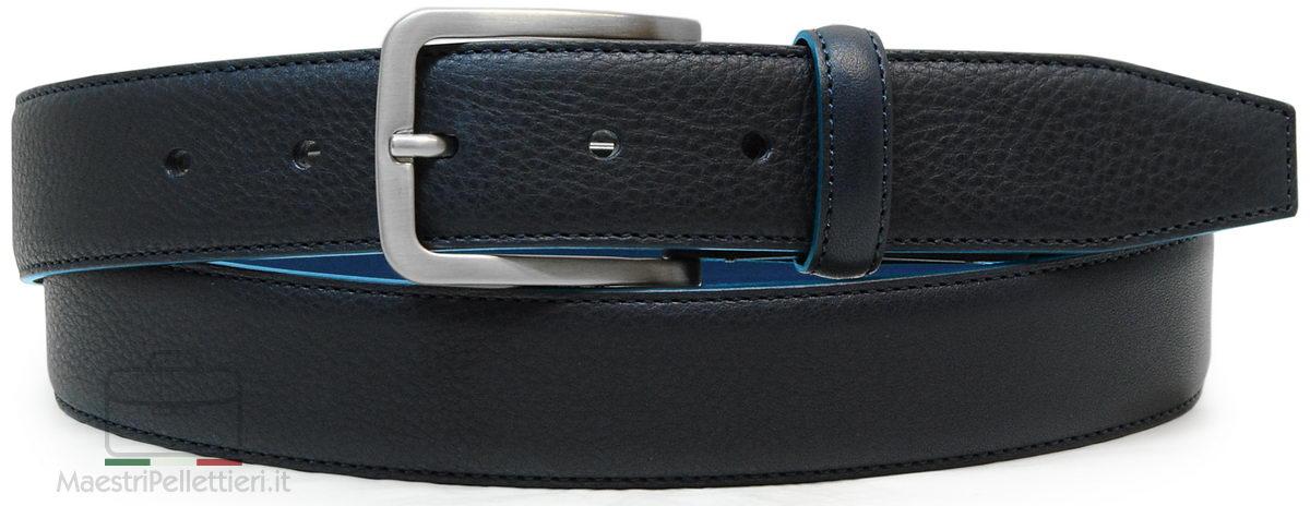 cintura uomo classica blu