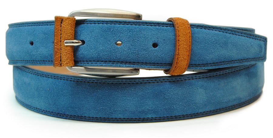 cintura scamosciata azzurro - Acciaio