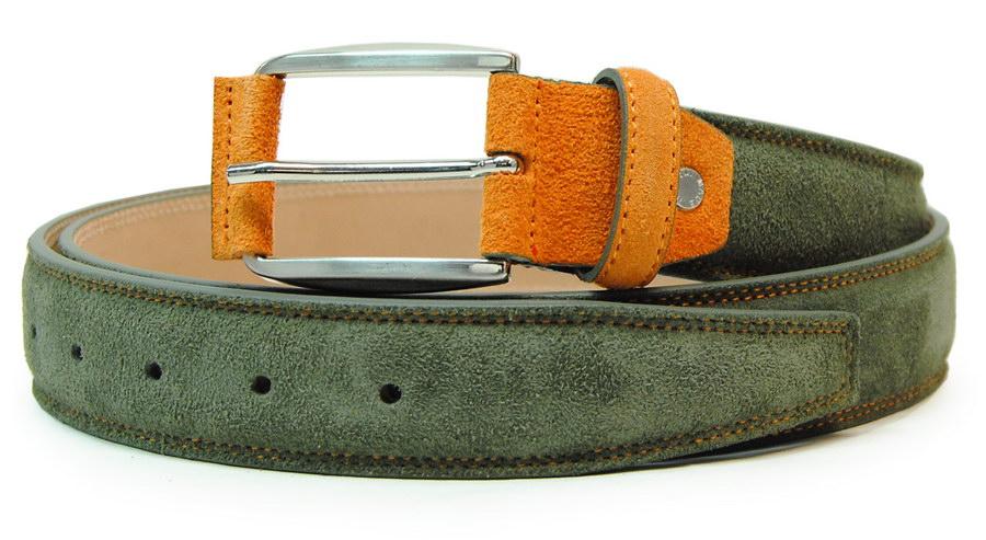 cintura scamosciata verde | Acciaio