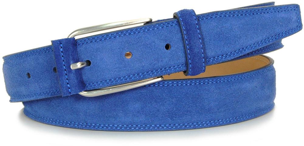 cintura scamosciata indaco - Acciaio