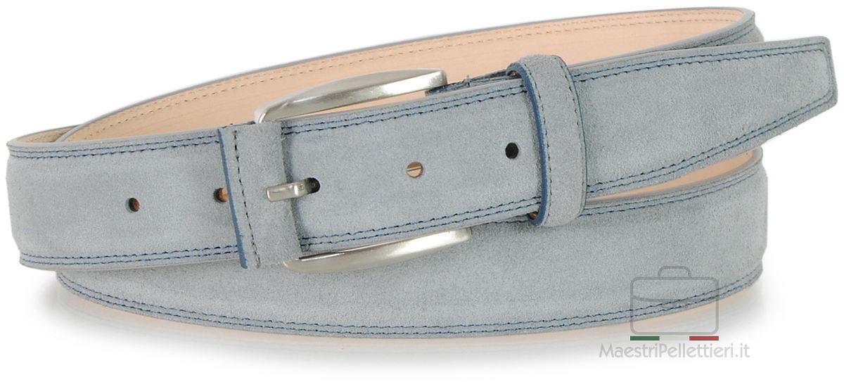 cintura scamosciata grigio