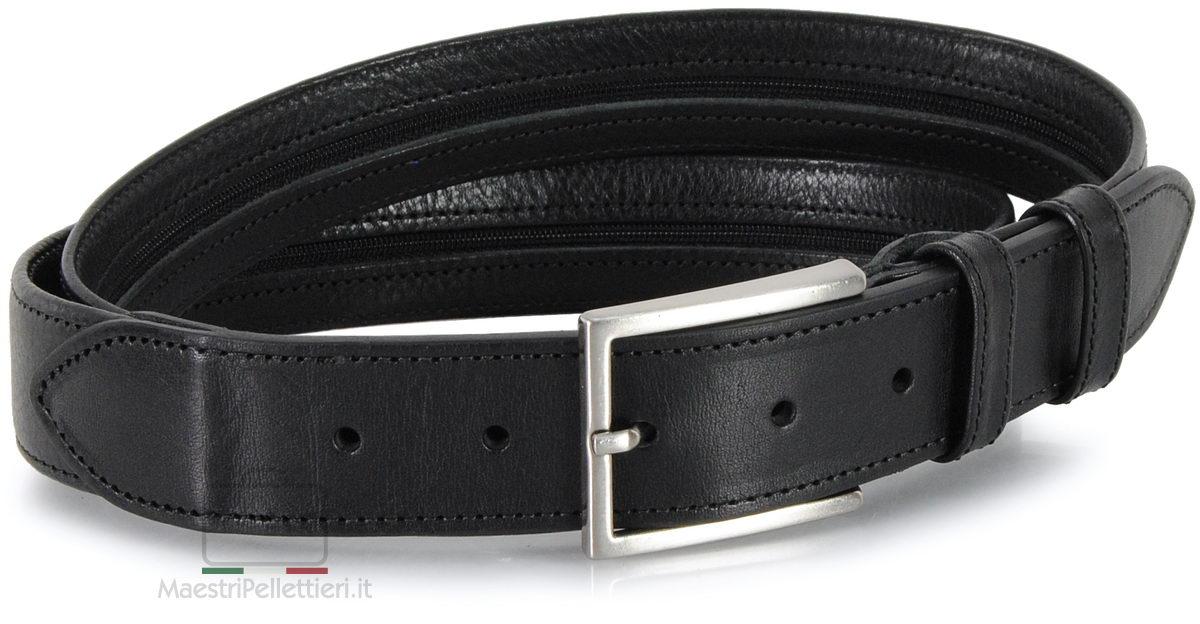 cintura con zip nero