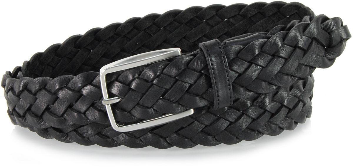 cintura intrecciata cuoio nero