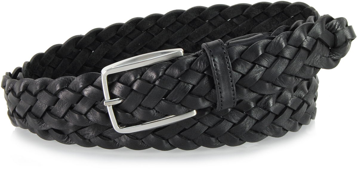 braided belt leather