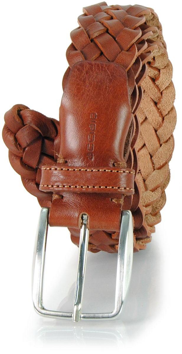 Cintura intrecciata in cuoio