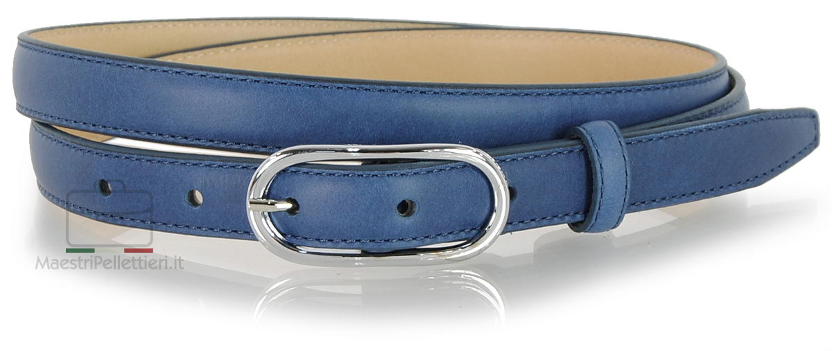 cintura donna sottile blu